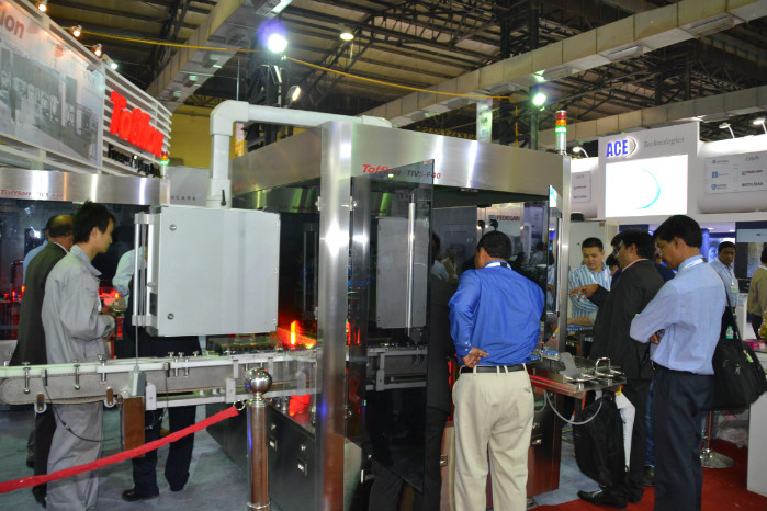 Tofflon launched its auto inspection machine in P-MEC India, 2013